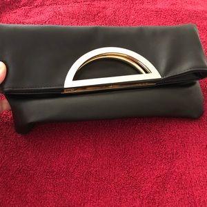 Black/gold Aldo clutch